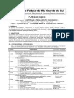 Plano de Ensino HPE I - RHJ 2014-1