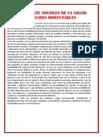 Analisis Para Los Determinantes Sociales
