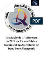 Prova Do 1 Trimestre EBD - ADPA