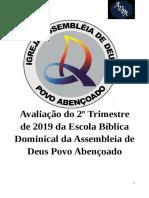 Prova Do 2 Trimestre EBD - ADPA Revista