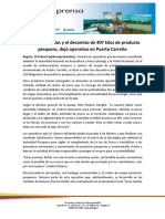 309. Dos Judicializados y El Decomiso de 407 Kilos de Producto Pesquero Dej Operativo en Puerto Carre o