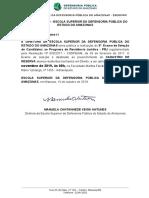 Edital Residencia Defensoria Pública Amazonas 2019