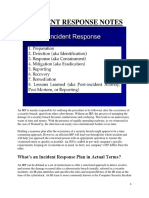 Incident Response Notes