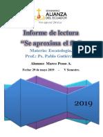 Informe de Lectura Se Aproxima El Fin PDF