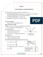 12 Physics Revision Notes Chapter 9