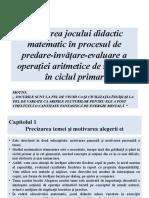 Utilizarea Jocului Didactic Matematic În Procesul de Predare-învățare-evaluare_v2