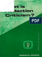 Norman Perrin-What is Redaction Criticism