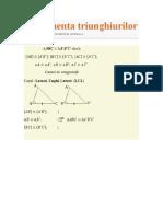 Congruenta triunghiurilor
