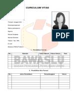 Format Cv Bawaslu