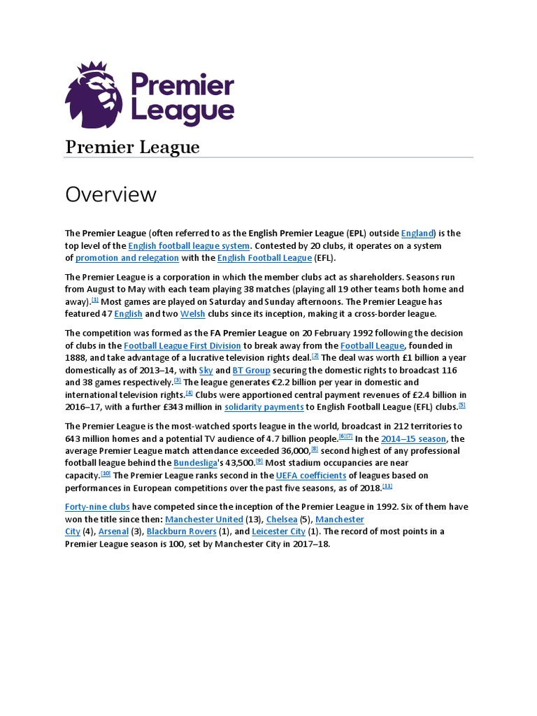 Premier League Premier League