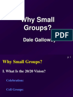 Why Small Groups Galloway 18