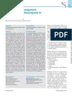 Diagnostico y manejo de la trombocitopenia inmune PTI