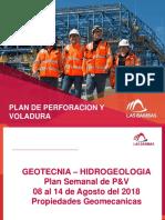 Plan de Perforacion y Voladura Del 08 Al 14 de Agosto Del 2018 - Propiedades Geomecanicas
