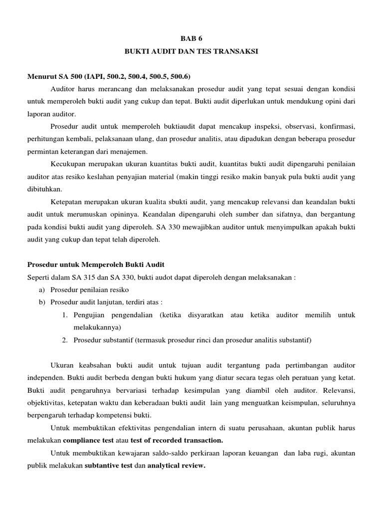 Bab 6 Bukti Audit Dan Tes Transaksi