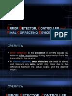 Error Detector Controller and Final Correcting Device