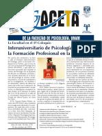 Gaceta de La Facultad de Psicologia UNAM Anio 19 Vol 19 No 379 25 de Octubre 2019