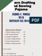 Drafting Pattern and Sewing  Pajama