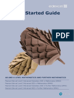 GCE Maths and Further Maths Getting Started Guide
