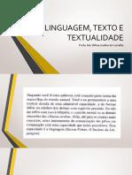 Linguagem, Texto e Textualidade