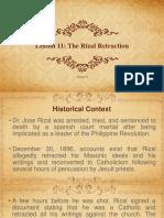 The Rizal Retraction