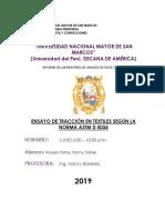 ENSAYO DE TRACCIÓN EN TEXTILES SEGÚN LA NORMA ASTM D 5034