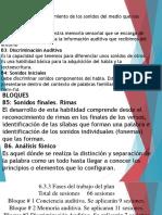 Diapositivas Sobre El Plan de Intervención a Nivel Sensorial Auditivo