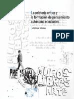 La relatoria crítica y la formación de pensamiento autónomo e inclusivo