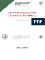 Cenni Caratterizzazione Meccanica Dei Materiali