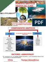 COMPONENTES ABIOTICOS CLIMA