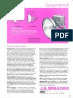 Spaulding Lighting Cooperstown II Floodlight Spec Sheet 8-84