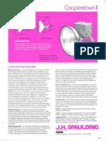 Spaulding Lighting Cooperstown II Floodlight Spec Sheet 9-83