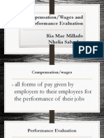 Compensation or Wages and Performnce Evaluation(Ria Mae & Nhelia (1)
