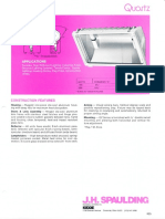 Spaulding Lighting Quartz Floodlight Spec Sheet 8-84