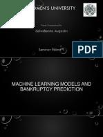 Machine learning Seminar Presentation