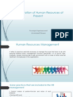 Administration of Human Resources at Present