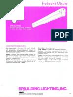Spaulding Lighting Enclosed Miami Fluorescent Spec Sheet 4-86