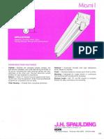 Spaulding Lighting Miami I Fluorescent Spec Sheet 6-77
