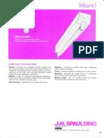 Spaulding Lighting Miami I Fluorescent Spec Sheet 8-84