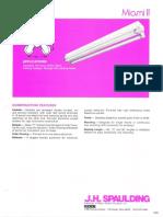 Spaulding Lighting Miami II Fluorescent Spec Sheet 6-77