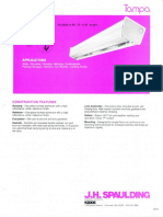 Spaulding Lighting Tampa Fluorescent Spec Sheet 8-84