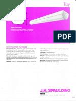 Spaulding Lighting Troy Fluorescent Spec Sheet 8-84