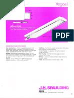 Spaulding Lighting Vegas I Fluorescent Spec Sheet 8-84