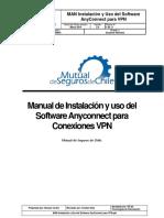 Manual de Instalación y Uso Del Software Anyconnect Para Conexiones VPN
