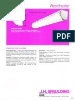 Spaulding Lighting Westchester Fluorescent Spec Sheet 6-77
