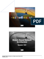 Cisco - Branch Based Network Architecture 1401