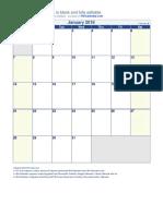 2018 Monthly Calendar Copy
