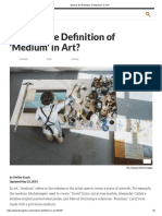 What is the Definition of _Medium_ in Art