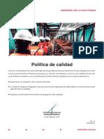 Politica de Calidad 15.08.19