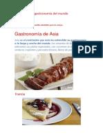 La Gastronomía Del Mundo