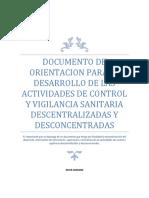 oRIENTACIONES DE CONTROL Y VILILANCIA SANITARIA